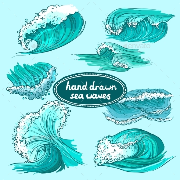 GraphicRiver Waves Icons Set 9430376