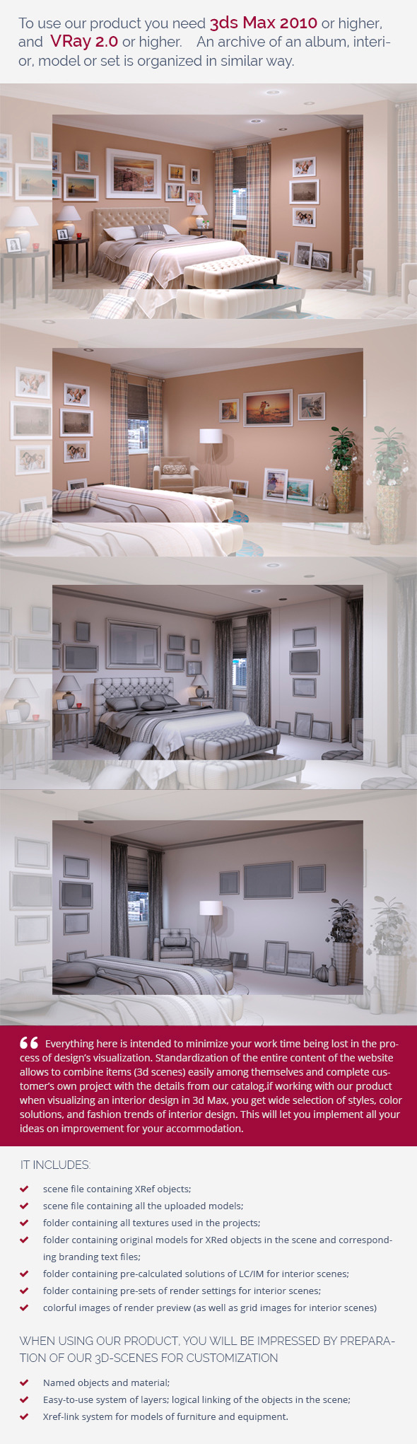 Bedroom 0384 - 3DOcean Item for Sale