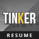 Tinker - Creative Resume - GraphicRiver Item for Sale