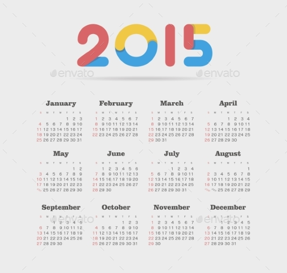 GraphicRiver Calendar 2015 Year 9430666