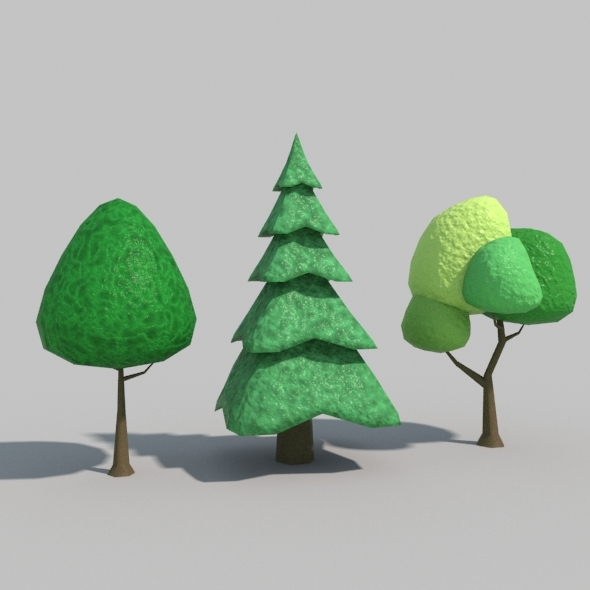 3DOcean Low Poly Tree Vol01 9430683