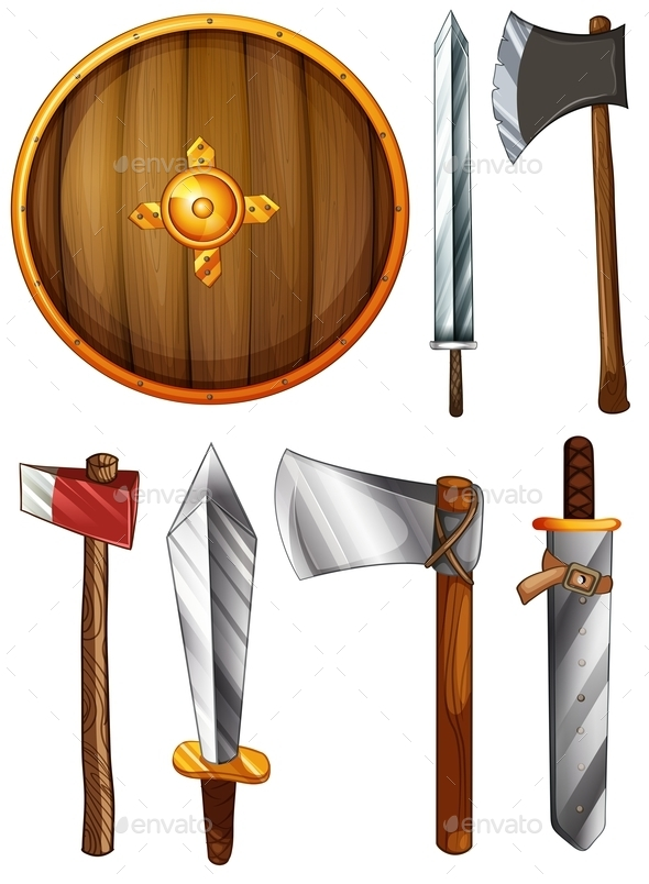 GraphicRiver Shield Swords and Axes 9430698
