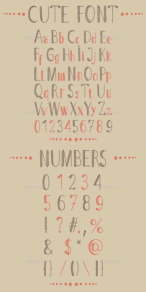GraphicRiver Hand Drawn Font and Numbers 9430704