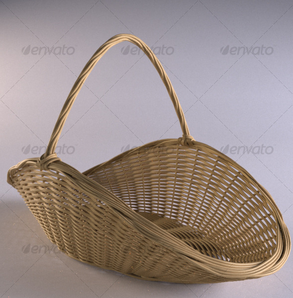 3DOcean Wicker firewood basket 120683