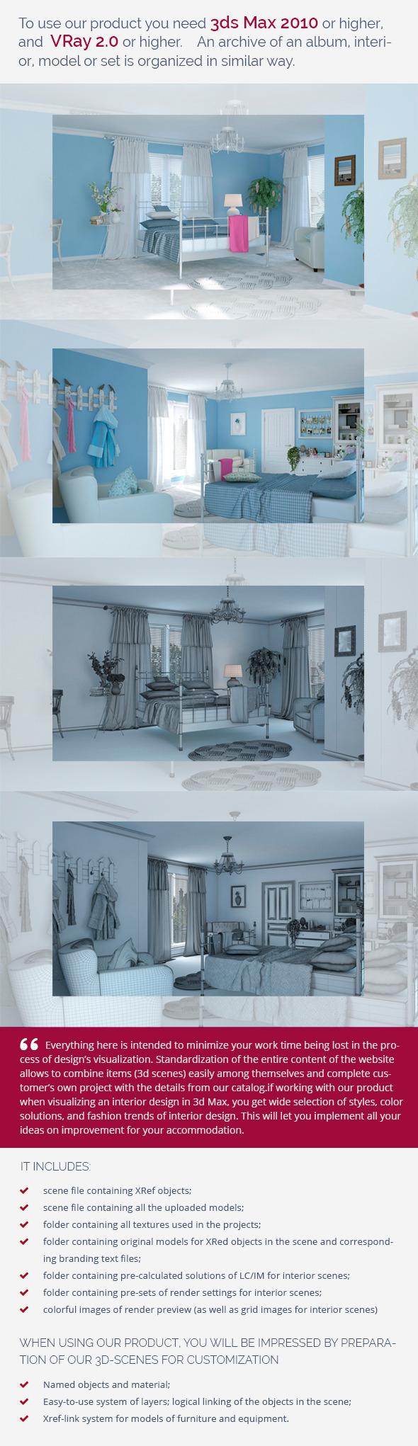 Bedroom 0387 - 3DOcean Item for Sale