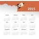Calendar 2015 Year with Rocket - GraphicRiver Item for Sale