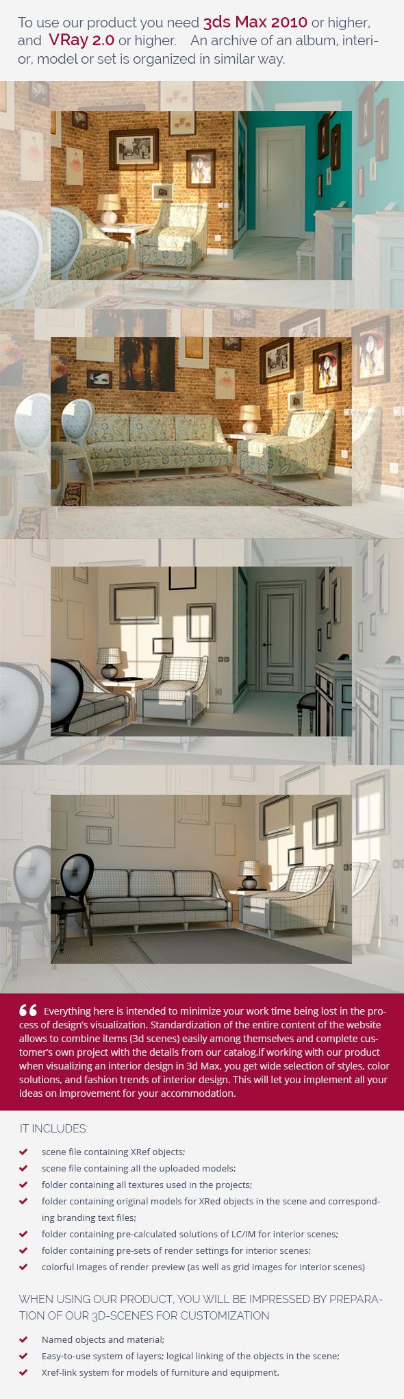 Studyroom 0362 - 3DOcean Item for Sale