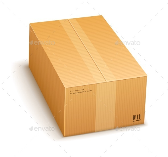GraphicRiver Cardboard Packing Box Closed 9430892