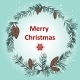 Greeting Card with Christmas Wreath - GraphicRiver Item for Sale
