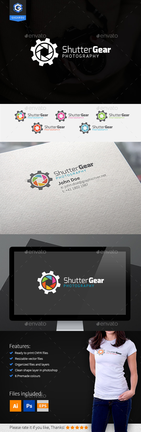 GraphicRiver Shutter Gear Logo 9430939