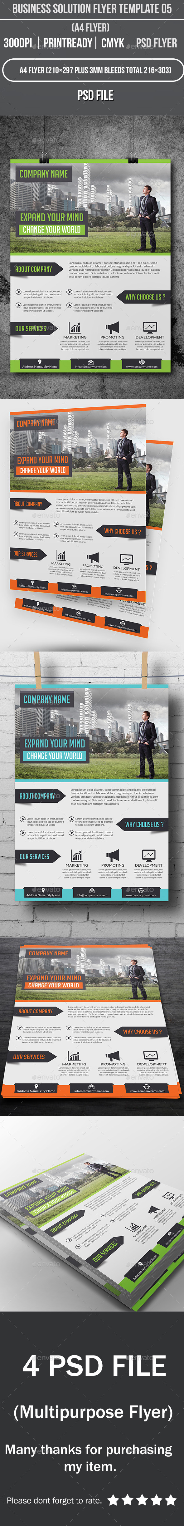 GraphicRiver Business Solution Flyer Template 05 9431066