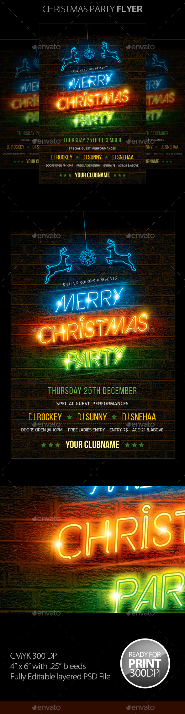 GraphicRiver Christmas Party Flyer 9431118