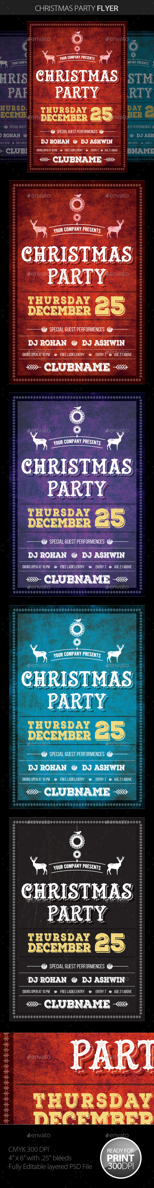 GraphicRiver Christmas Party Flyer 9431204