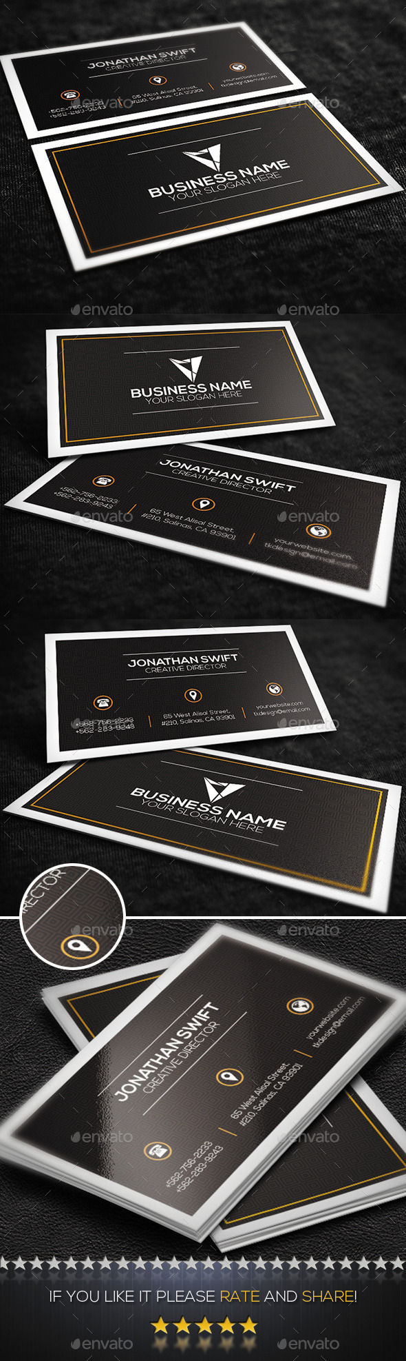 GraphicRiver Brown Corporate Business Card 9431709