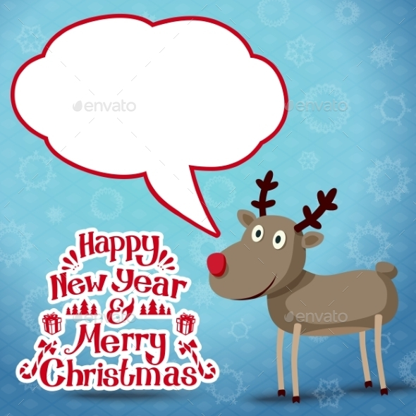 GraphicRiver Reindeer with Speech Bubble 9431768