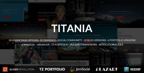 Titania - Responsive Multipurpose Joomla Template - Corporate Joomla