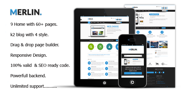 ThemeForest Merlin Clean & Modern Multipurpose Templates 9377006