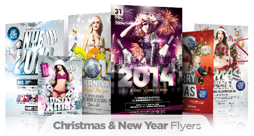 New Year & Christmas Flyers