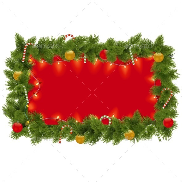 GraphicRiver Fir Frame with Garland 9431836