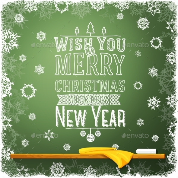GraphicRiver Merry Christmas and a Happy New Year Message 9431944