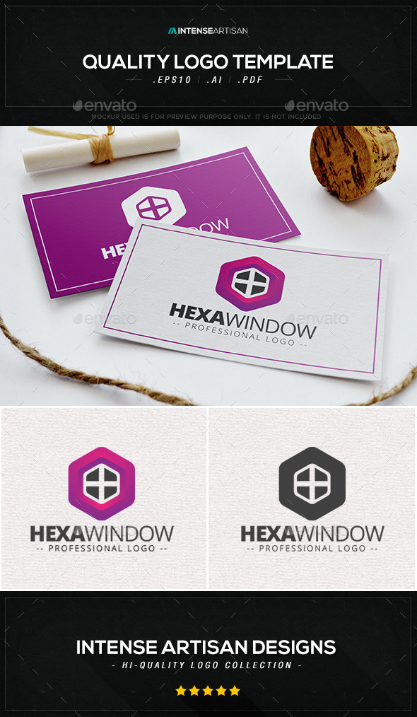 GraphicRiver Hexa Window Logo Template 9432025
