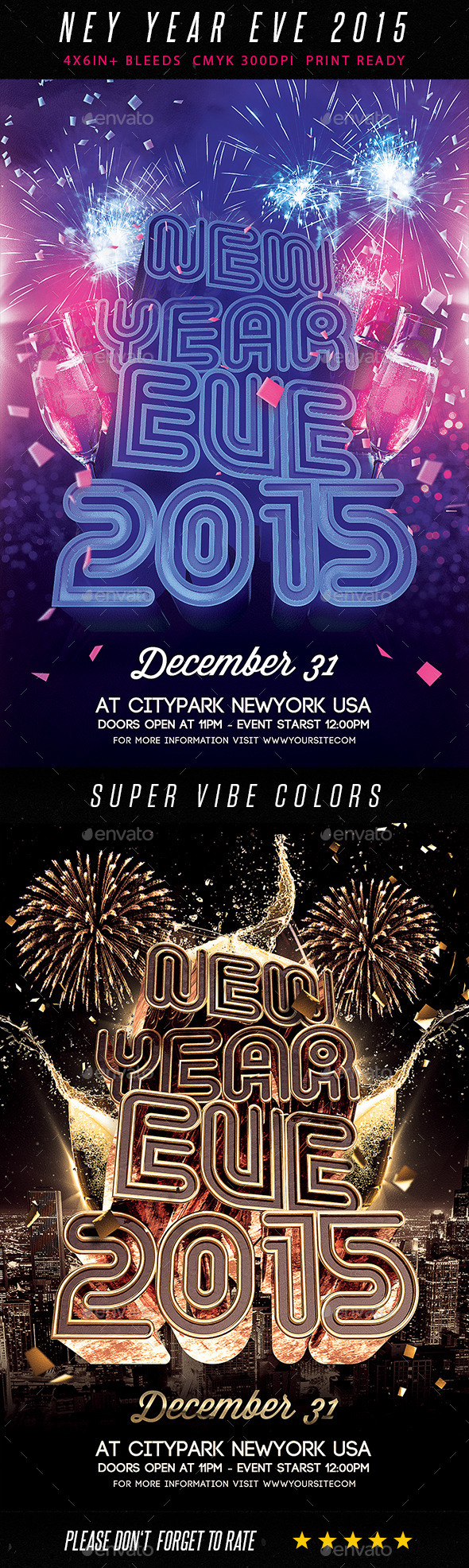 GraphicRiver New Year Eve 2015 Flyer 9374558