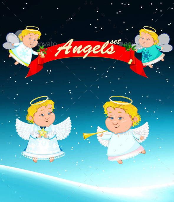 GraphicRiver Christmas Angel 9403165