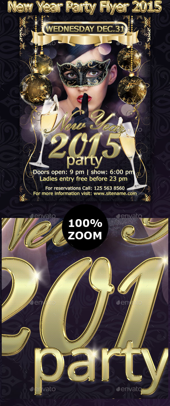 GraphicRiver New Year Party Flyer 2015 9372918