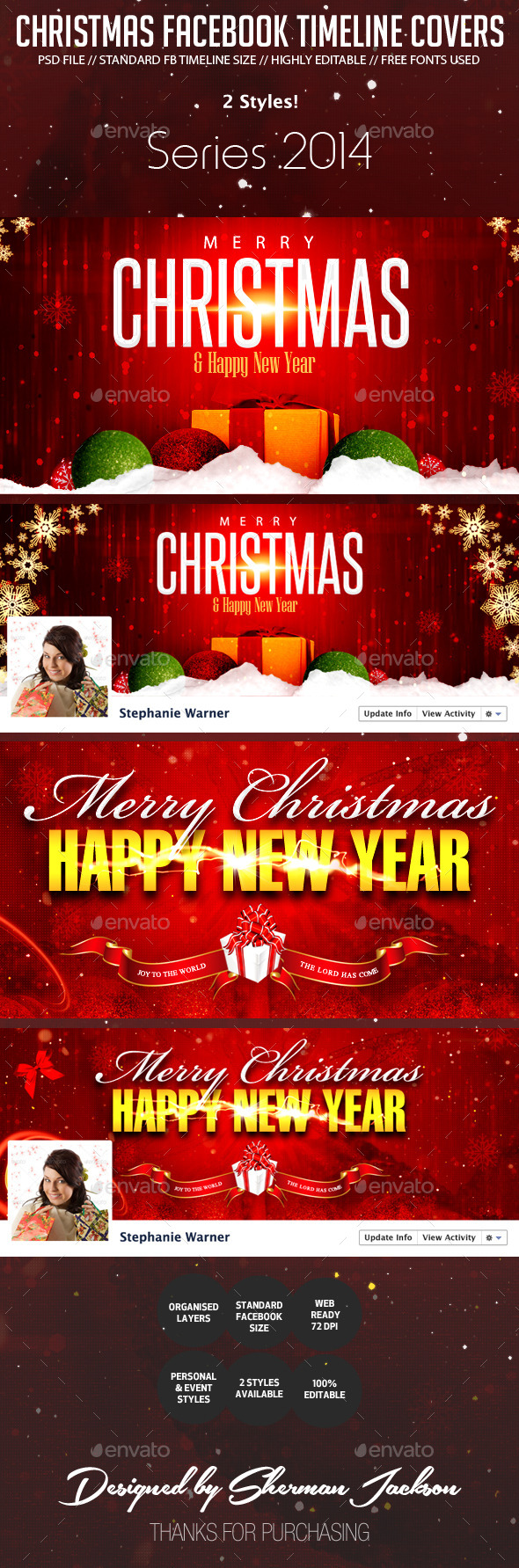 GraphicRiver Christmas Holiday Facebook Cover Photos 9432477