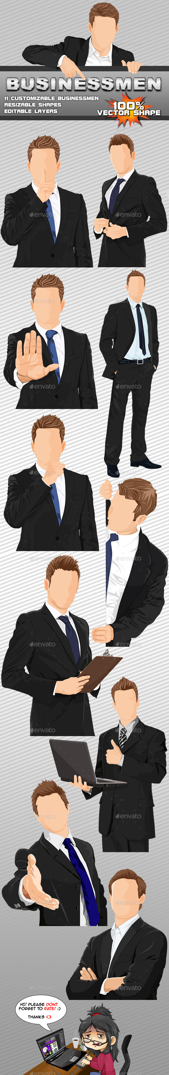 GraphicRiver 11 Vector Businessmen 9432534