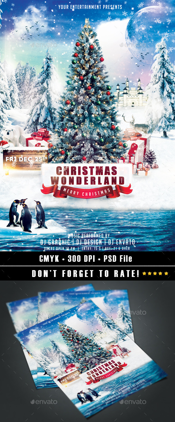 GraphicRiver Christmas Wonderland Flyer 9377686