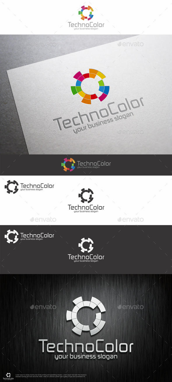 GraphicRiver Bright High Tech Logo Template 9432584
