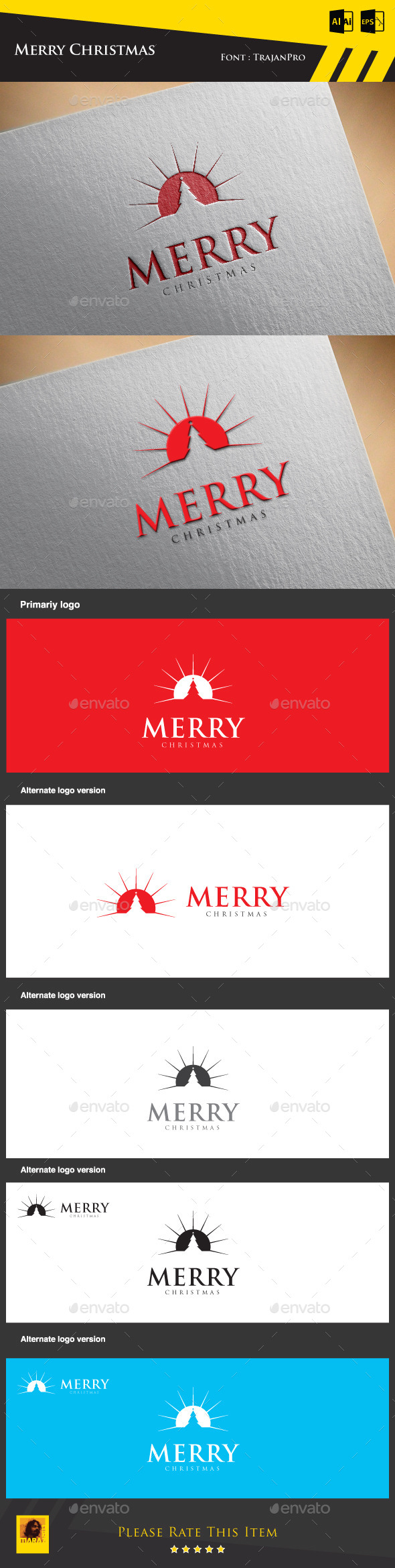 GraphicRiver Merry Christmas Logo Template 9432749