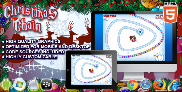 CodeCanyon Christmas Chain Zuma Clone HTML5 Game 9432949