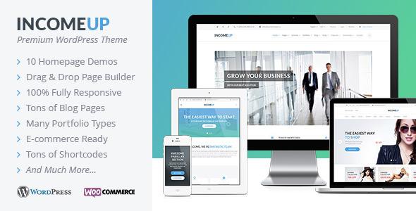 ThemeForest IncomeUp Multipurpose WordPress Theme 9357006