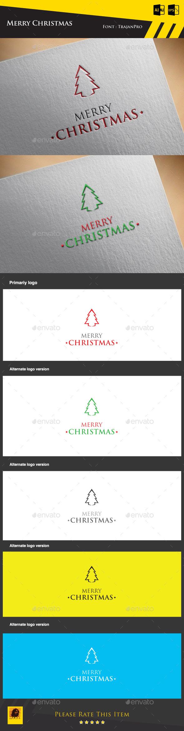 GraphicRiver Merry Christmas Logo Template 9432978
