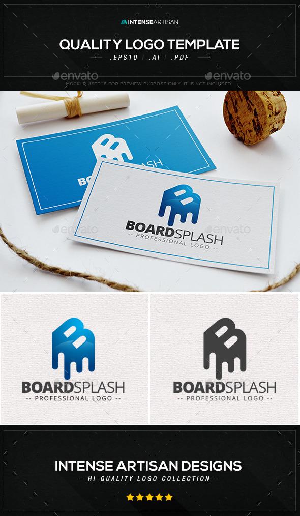 GraphicRiver Board Splash Logo Template 9433014