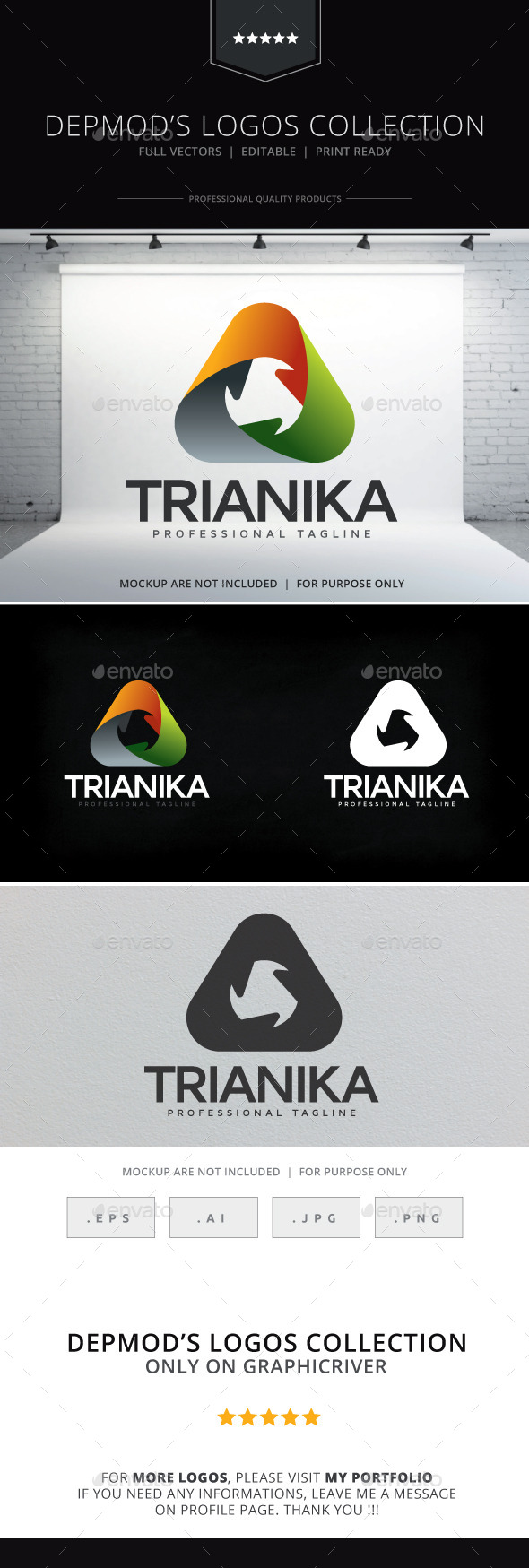 GraphicRiver Trianika Logo 9433019
