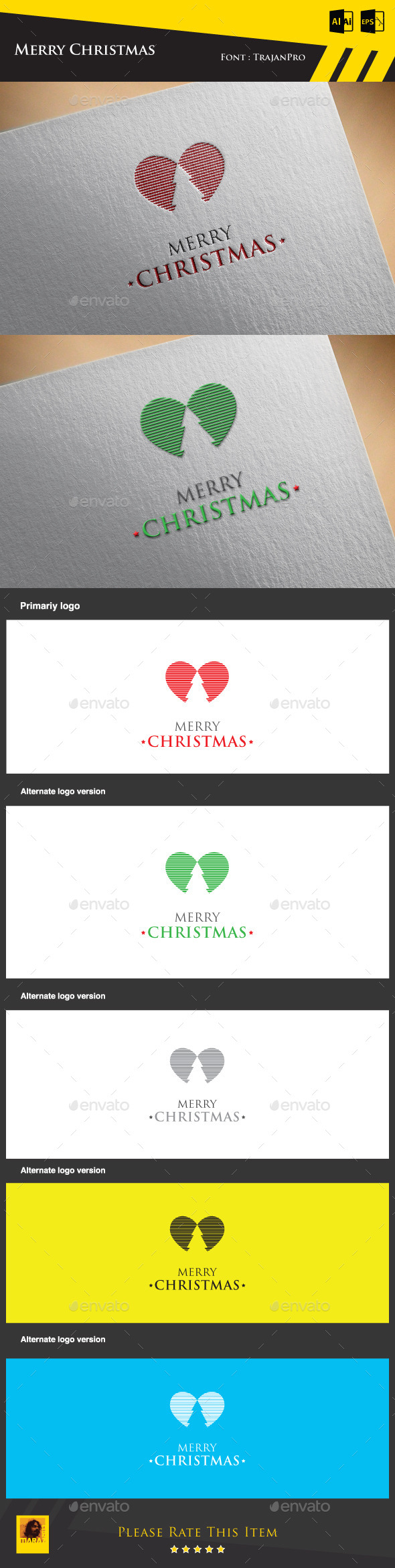 GraphicRiver Merry Christmas Logo Template 9433020