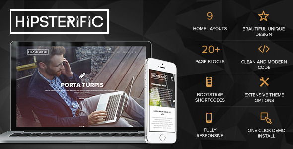 Description Hipsterific is a Creative Multi-Porpose Responsive WordPress WooCommerce enabled theme with a clean and professional design which will be a great s