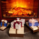 Christmas gift boxes near fireplace - PhotoDune Item for Sale