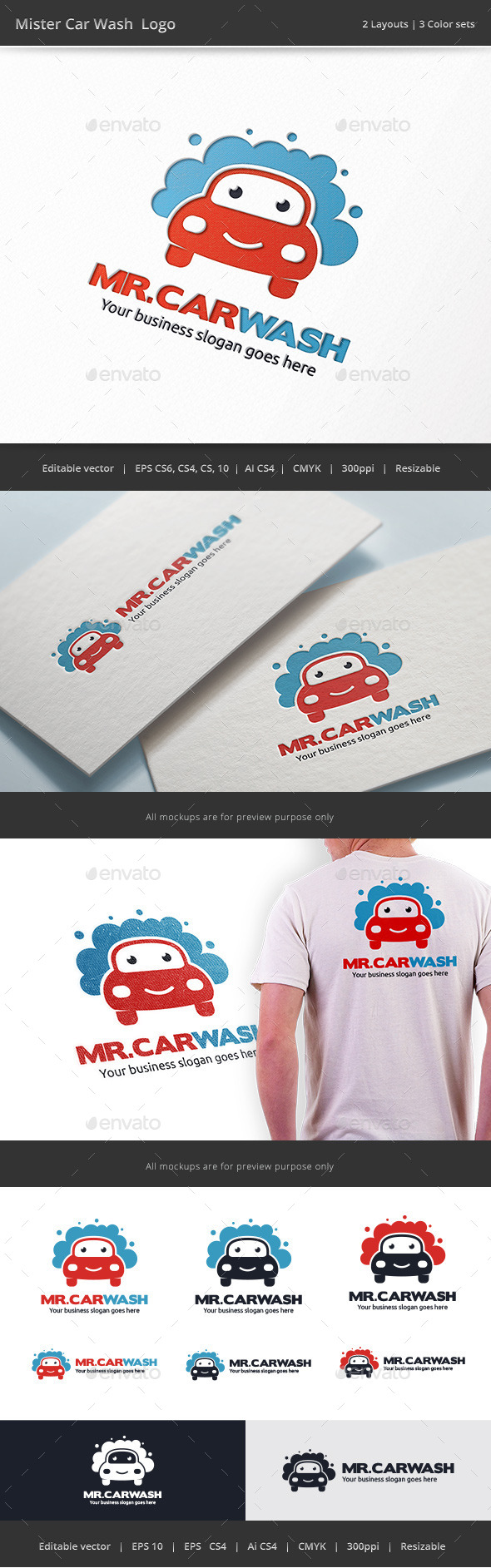 GraphicRiver Mister Car Wash Logo 9433061