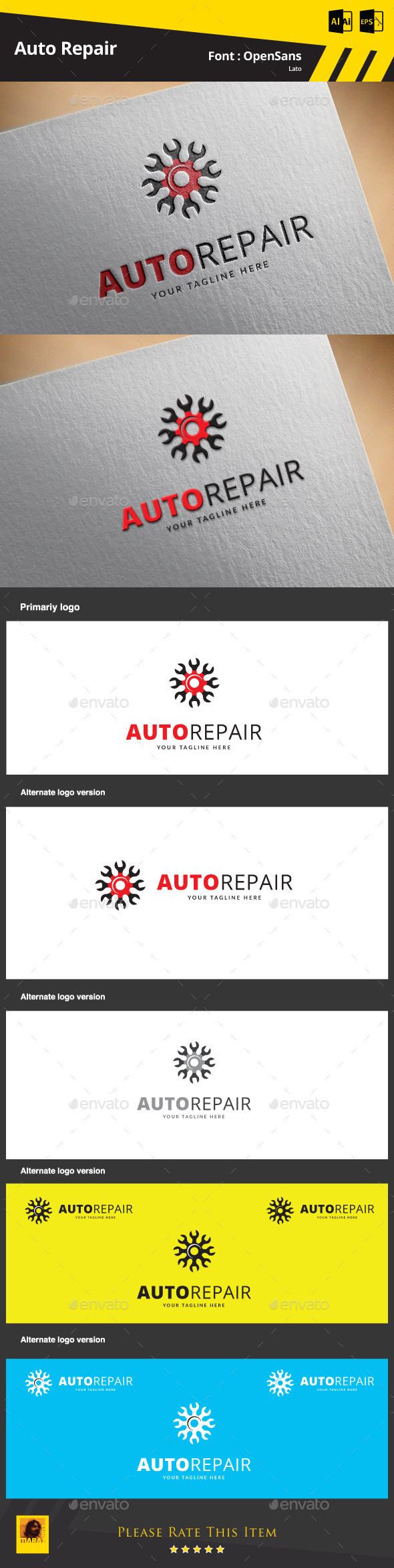 GraphicRiver Auto Repair 9433064