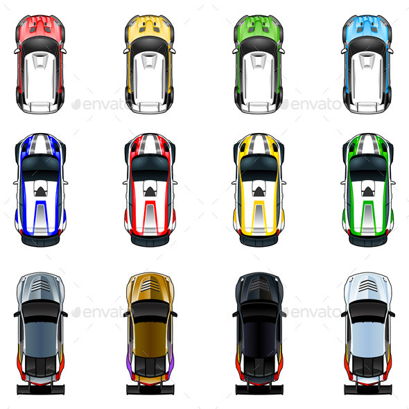 GraphicRiver Cars in Four Colors 9433069