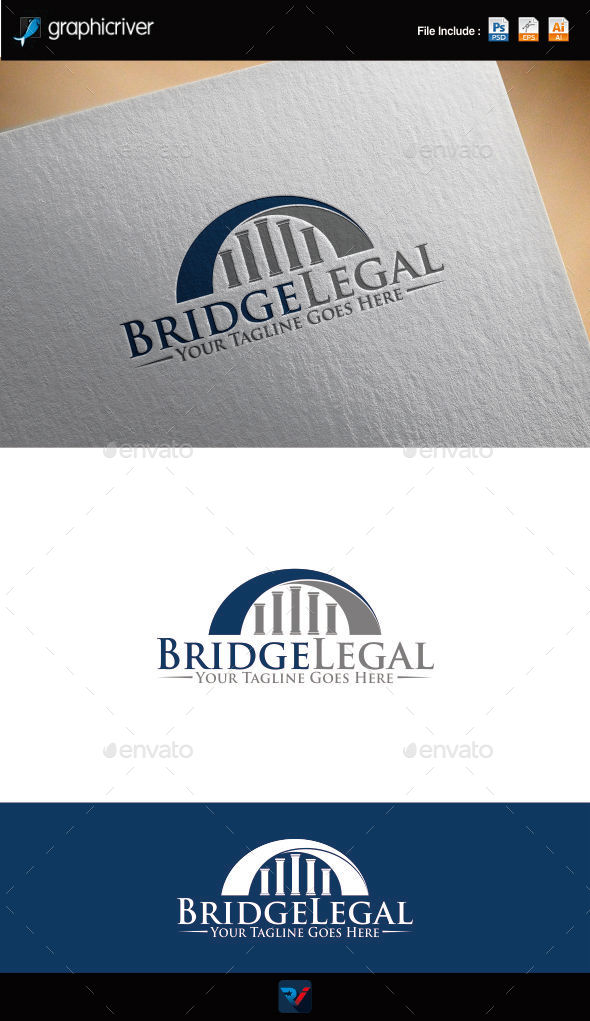 GraphicRiver Bridge Legal Logo 9433255