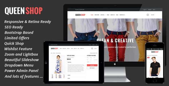ThemeForest Queen Responsive Shopify Theme 9433426