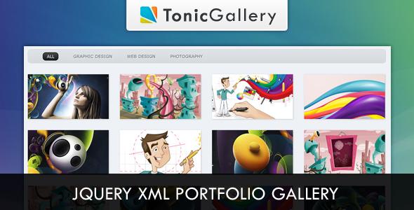 CodeCanyon Tonic Gallery jQuery XML Portfolio Gallery 120710