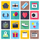 Daily Events Flat Icons - GraphicRiver Item for Sale