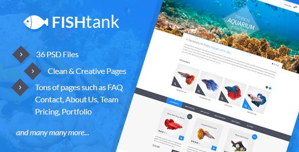 FishTank - Creative eCommerce PSD Template