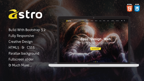 ThemeForest Astro Onepage Multipurpose Business HTML Template 9434126